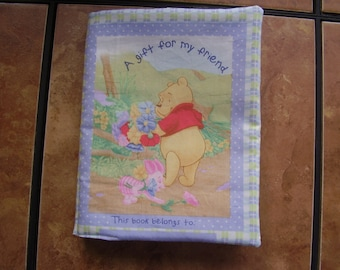 Disney Pooh A Gift for my Friend Quiet Soft Fabric Baby Toddler Story Book Handmade Ready to Read