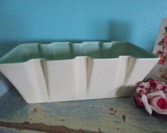 Lovely ivory and green planter