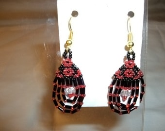 Droplet Earrings  red