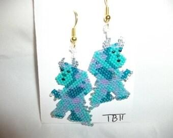 Sully Kitty Monsters Inc Earrings  D