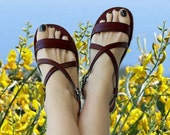 LAST SALE 20% OFF Handmade Leather Sandals Gladiator Handmade Unique Style Priceless Straps- Charm