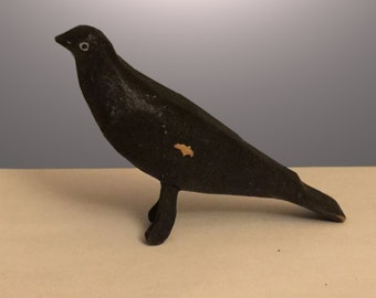 Folk Art Antique Black House Bird Miniature Mid Century the inspiration of Charles Eames House Birds