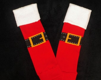 SALE / Christmas Leg Warmers / Santa