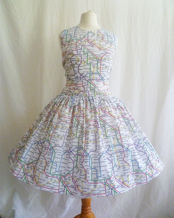 London Tube Map Dress London Underground dress London map