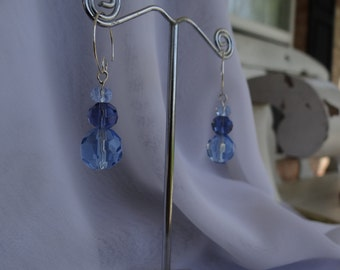 Open Loop Blue Earrings