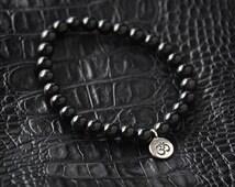 Mens Ohm Bracelet Mens Bracelet Mens Beaded Bracelet Yoga Bracelet Mens Ohm Jewelry Mens Gift for Men Bracelet Mens Bracelet Gift for Him