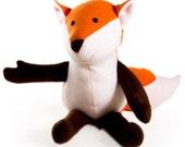 Fletcher Fox PDF pattern, Beginner Sewing Pattern, Fleece Fox, DIY Sewing, Stuffed Animal Fox, Fox Softie