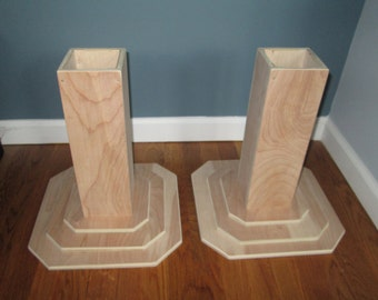 Bed Risers For College Dorm Room 4 Inch All Wood By Odyssey359