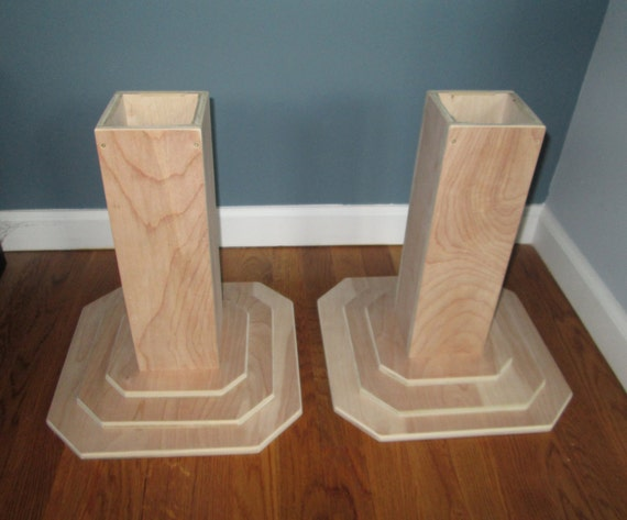 Furniture risers 12 inch all wood construction unfinished for Furniture risers