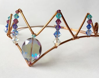 Copper Wire Crystal Elvira Crown
