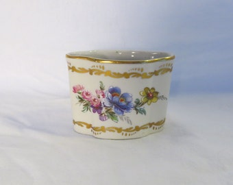 Antique Hand Painted and Gold Gilt Floral Vase From Limoges France                 Misc Box