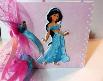 Disney Princess Jasmine scrapbook premade pages chipboard scrapbook mini album  cinderella, belle, disneyland vacation birthday