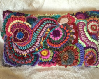 Freeform Crochet pillow