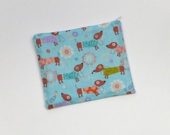 Dachshund Zipper Pouch Reusable Snack Bag