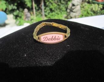 Child's Stretch Name Bracelet DEBBIE