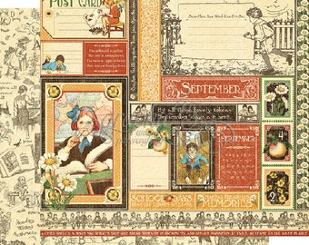 """Graphic 45's """"Children's Hour"""" Both September 12x12 Pages  ** See Discounted Shipping Note**"""