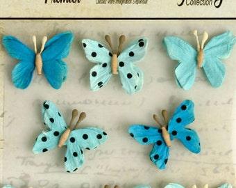 Petaloo Mini Butterflies Teastained Teal
