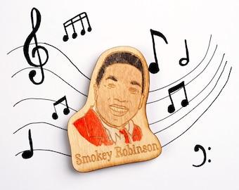 Smokey Robinson Wooden Motown Magnet