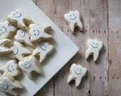 Tooth Decorated Cookies  -  Teeth Cookies (2 Dozen)
