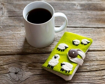 Felt Sheep Tea Wallet, Wool Tea Holder, Gift for Tea Lover