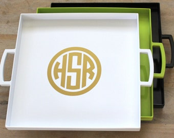 Serving Tray - Monogram Tray - Personalized Wedding Gift - Monogram Gift - Personalized Gift - TV Tray