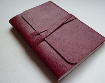 Leather Sketchbook Leather Journal Travel Journal Leather Book. Soft Red Grained Leather.