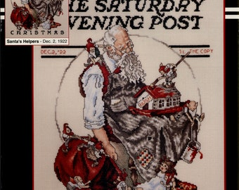 Stoney Creek: Santa's Helpers - December 2, 1922 (OOP) - a Saturday Evening Post Cross Stitch Pattern