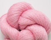 Lingerie Pink Silk Cashmere Fine Lace Weight Recycled Yarn, SCH00129