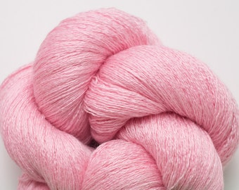Lingerie Pink Silk Cashmere Fine Lace Weight Recycled Yarn
