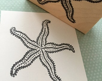 Starfish Wood Mounted Rubber Stamp 4611