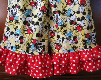 Baby Toddler Girls Ruffle Pants or Capri - Red White Blue, Red Polka Dot - Best Friend Forever - Mouse Pants - Size 6M to 12 - Made to Order