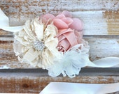 Wedding corsage, wrist corsage, blush corsage, mother of the bride corsage, prom corsage, Mother of the groom corsage, keepsake