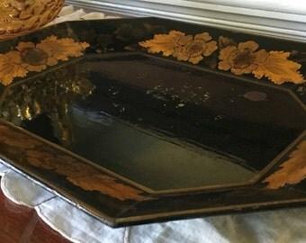 Vintage tole tray 1950