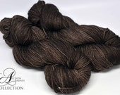 Hand Dyed Superwash Merino - Fingering weight Sock yarn - Chocolate Brownie