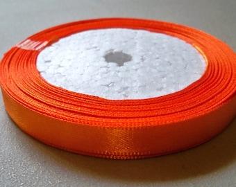 "Dark Orange Satin Ribbon-3/8""-10mm-10 YDS"