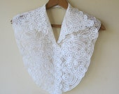 Ivory Battenberg Lace Collar and Dickey Bib 874a