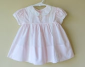 Pink Cotton Baby Dress 12-18 Months Alfred Leon Hand Made 805a