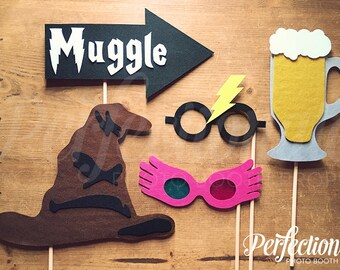 Felt Harry Potter Props | Harry Potter Photo Booth