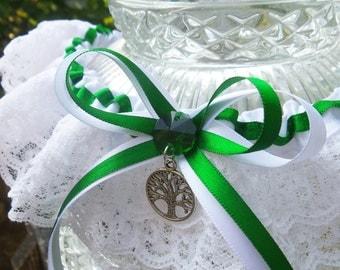 Yggdrasil, Tree of Life Garter, Viking wedding, Celtic Wedding, medieval wedding, pagan wedding, wiccan wedding, green witch wedding