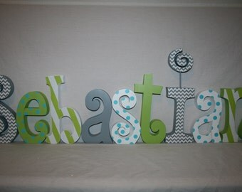 wooden letters for nursery 9 wood letters blue and green decor wood letters baby name letterswooden letters baby name letters