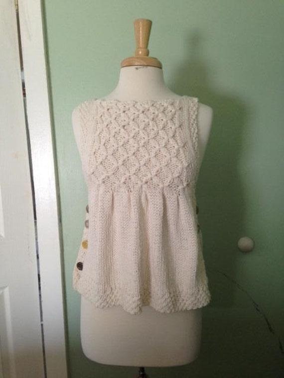 Smocked Pullover Vest Knitting PatternPDF