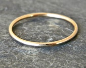 Gold thumb ring, 14 karat gold filled stacking ring, women's thumb ring, serendipity handcrafted jewelry
