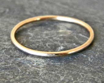 Gold Thumb Ring - Dainty Gold Ring - Gold Stacking Rings - Dainty Ring -  Womens Thumb Ring - Midi Ring - Gift for Girlfriend - Gold Fill