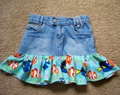 Dory Upcycled Jean Skirt
