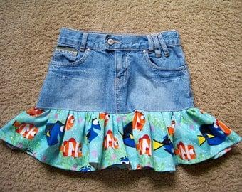 Dory Upcycled Jean Skirt