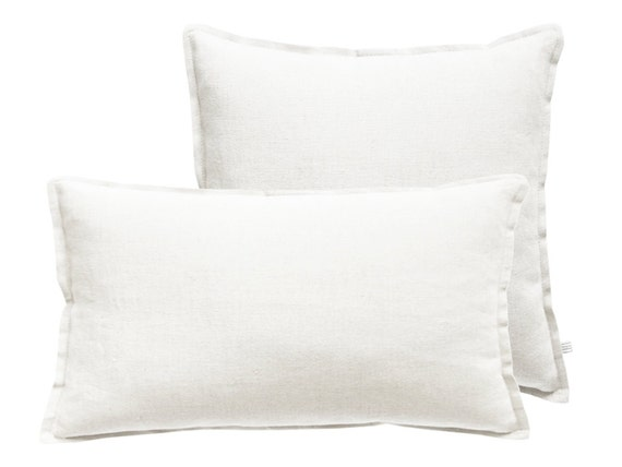White linen decorative pillow covers Square or by LovelyHomeIdea