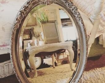 Vintage Beautiful Ornate Beveled Mirror - Shabby Chic