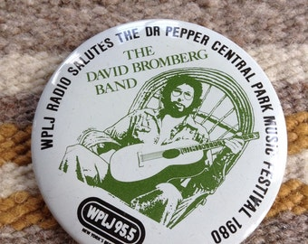 1980 WPLJ NYC 95.5 Central Park David Bromberg Band button