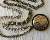 CUSTOM LISTING for stellacrippa1 - Steampunk Womens Necklace with Mixed Long Chain