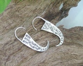 Thai Silver Earrings - The Charming Flat Ivory(1)